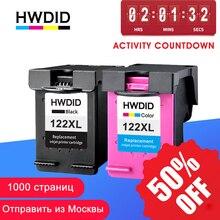 HWDID 122XL yeniden doldurulmuş mürekkep kartuşu HP yedek malzemesi 122 Deskjet 1000 1050 2000 2050s 3000 3050A 3052A 3054 1010 1510 2540