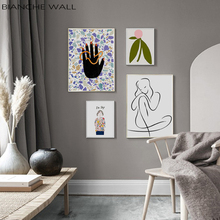 Woman Abstract Decorative Painting Canvas Poster Abstract Wall Art Painting Print Minimalist Nordic Decoration Picture Home Deco