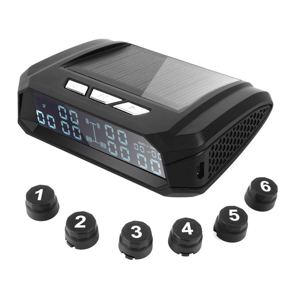 2020 alarme da pressão dos pneus sistema de monitoramento da pressão dos pneus 8.0bar caminhão tpms 6 pces sensor usb