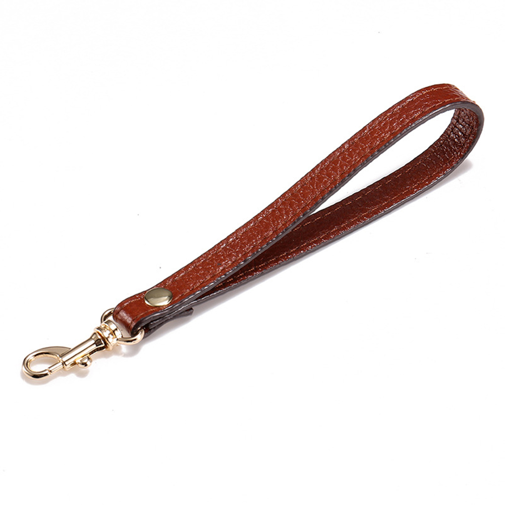 Clutch Short Hand Belt Purse Holder PU Leather Keychain With Clasp For Bags Accessory Hanging Wristlet Strap Handbag Replacement