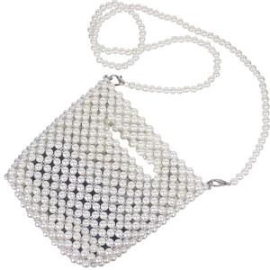 Image 5 - Брендовые Дизайнерские Сумочки Ручной работы, сумка из бисера и жемчуга в стиле ретро, плетеная Женская диагональная женская сумка, Новая вечерняя сумка, клатч