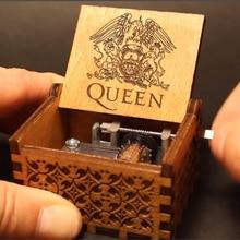 Королева музыкальная шкатулка деревянная рука коленчатый Imagine Джон остров принцесса игры Trhone любовь папа и мама Звездные войны Рождественский подарок