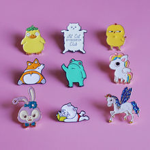 Animals Brooch unisex enamel Pins Lapel Bag Clothes Button Badges Cartoon Jewelry Gift for friends