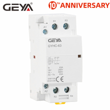цена на GEYA GYHC 2P 40A 63A  2NO OR 2NC AC220V 230V Automatic DIN Rail Mounting AC Contactor