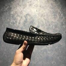 جديد رجالي أحذية عادية جلد طبيعي دوغ أحذية حذاء رجالي اليدوية منخفضة حذاء حقيقي أحذية من الجلد الإيطالي خف جلدي ل