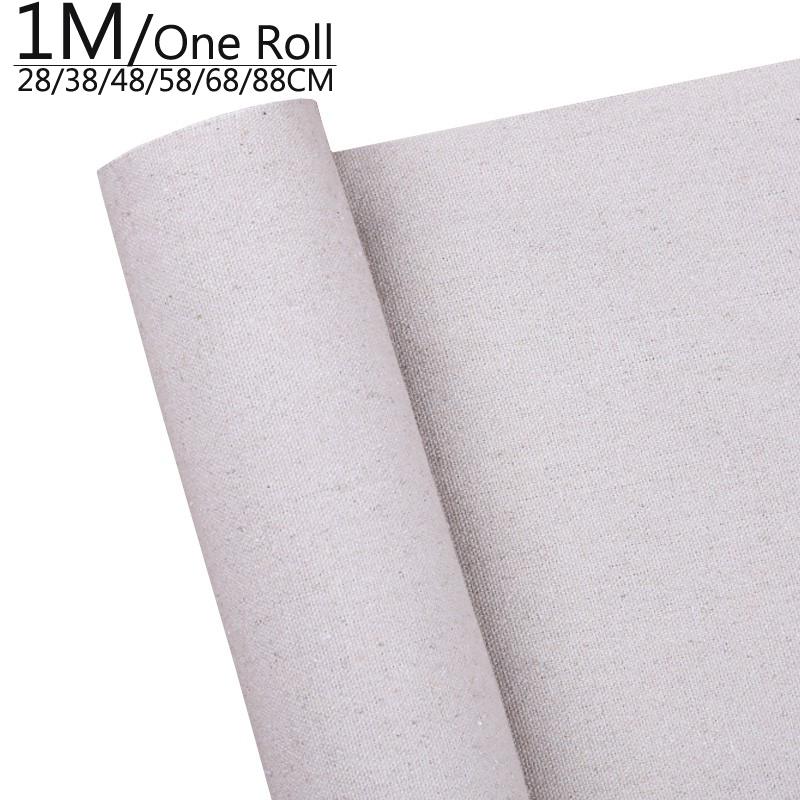 1M One Roll Professional Blank Canvas For Painting Layer Acrylic Oil Painting Canvas Linen Blend Primed Art Supplies For Artist