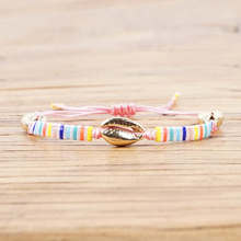 Shinus Gold Shell Bracelets MIYUKI Tila Beads Bracelet Bohemian Colorful Pulseira Mujer 2019 Women Rainbow Summer Beach Jewelry стоимость