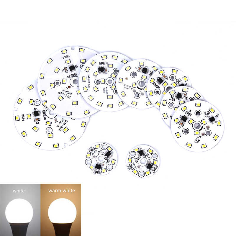 1pc 3 w/7 w/9 w/12 w led smd2835 chip inteligente ic contas led diy para led downlight holofote 180-1800 lm