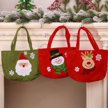 Christmas Decorations Gift Bags Girl Candy Cookie Santa Tote Bag Child kids Toys Snowman Flannel Home Decor