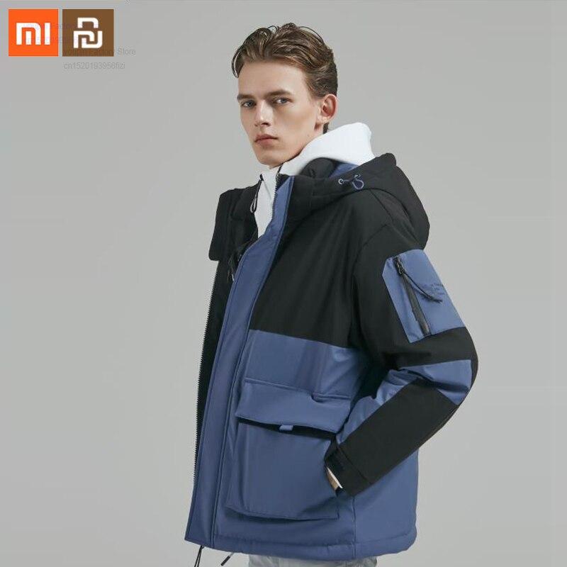 Оригинальный мужской пуховик xiaomi с капюшоном, 90 точек, 90% белый пуховик, 4 Водонепроницаемая зимняя куртка smart