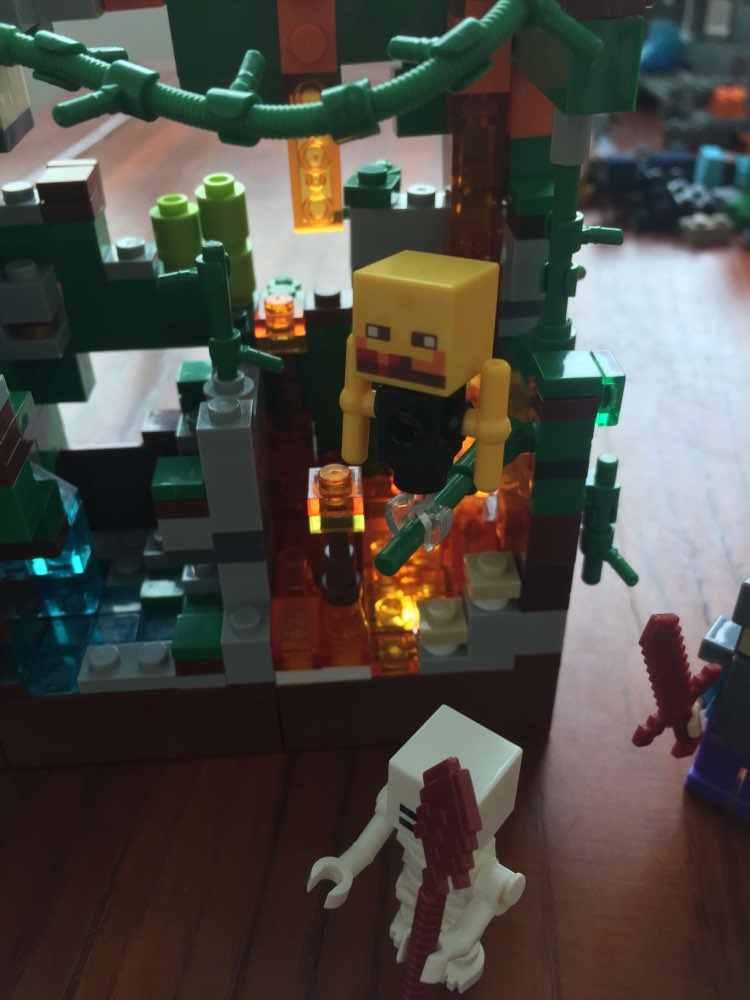 2020 новые строительные блоки Набор шахты ремесло зомби светильник мой мир ад джунгли Стива Кирпичи игрушки для детей