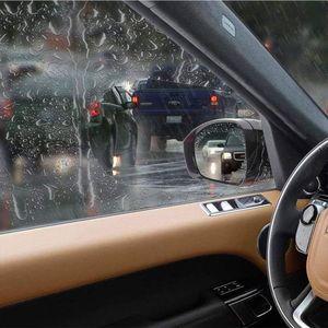 Image 5 - 2Pcs/set Rainproof Car Accessories Car Mirror Window Clear Film Membrane Anti Fog Anti glare Waterproof Sticker Driving Safety
