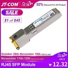 Gratis verzending! Gigabit SFP module RJ45 connector 1000 Mbps SFP mini gbic Koper RJ45 SFP module Glasvezelzendontvanger RJ45 poort Compatibel met Cisco / Mikrotik / TP Link Gigabit Ethernet SFP vezelschakelaar