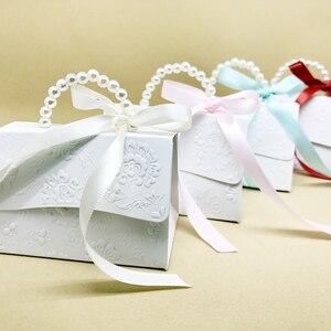 Image 5 - RMTPT Tragbare Hochzeit Party Favor Boxen Schokolade Treat Süßigkeiten Boxen mit Bändern für Hochzeit Braut Dusche Baby Dusche Geburtstag