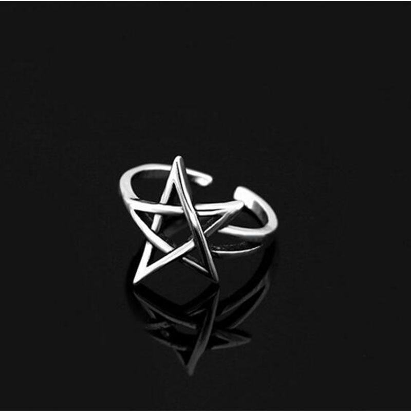 Регулируемое кольцо в виде звезды в стиле ретро