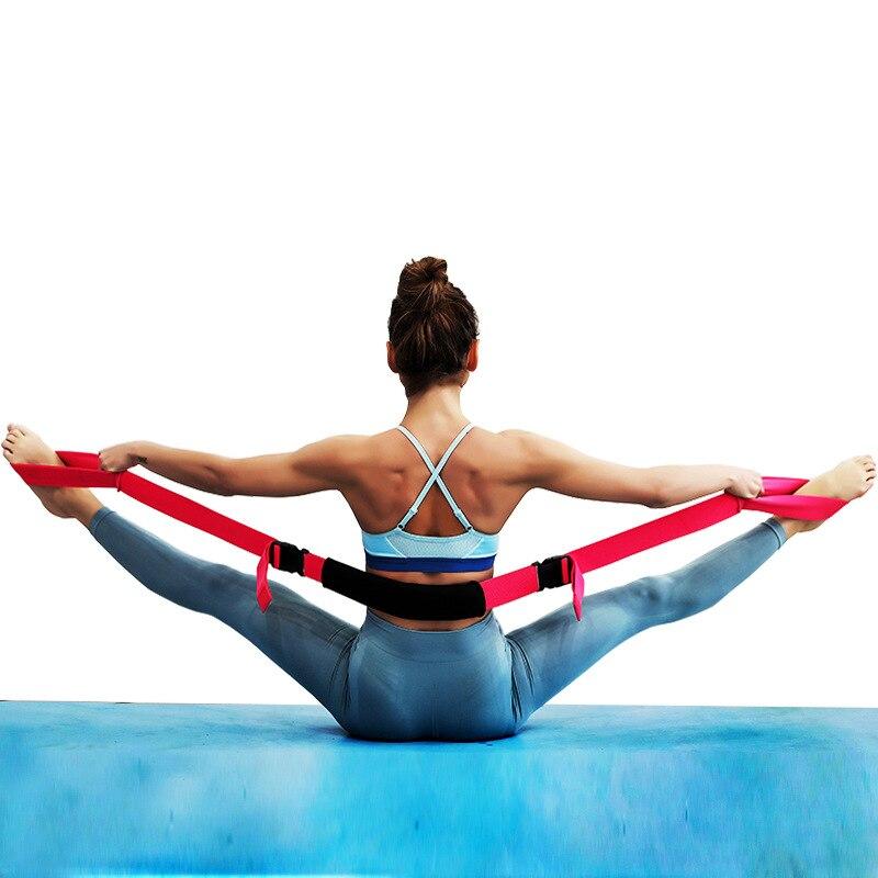 Yoga Belt Stretch Strap Equipment Fitness Elastic Practice Resistance Opening Training Soft Stretching Yoga Rope