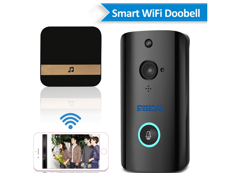 SNOSECURE Wireless WiFi Video Camera IP720P Ring DoorBell Video Intercom Two Way Audio APP Control Infrared Night Vision