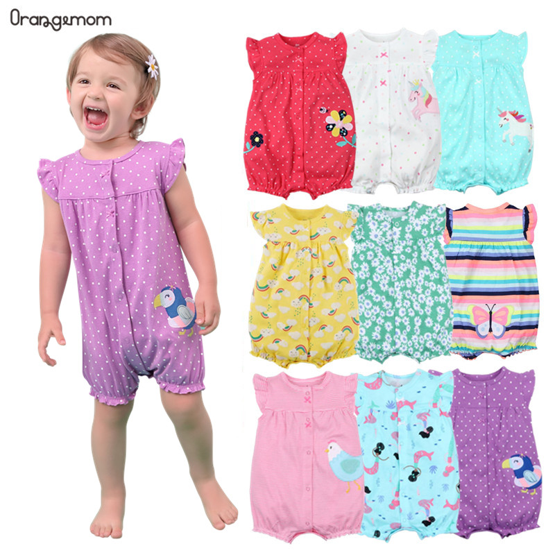 Orangemom Brand Summer Baby Rompers Short Sleeve Baby Girls Clothing Kids Jumpsuits Newborn Baby girl Clothes Roupas vestidos