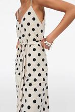 Polka Dot  Dress With Belt Summer Spaghetti Strap Multiple Wearing methods V-Neck Jersey fabric A-Line Dresses