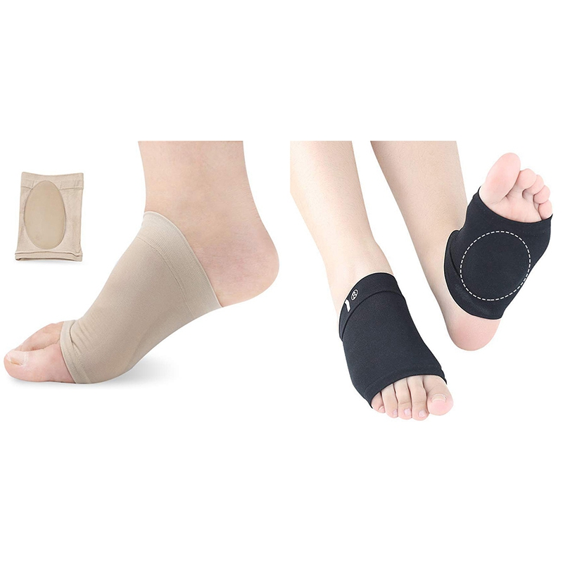 New Compression Arch Support with Comfort Gel Pad,Arch Brace for Flat Feet Cushions for Women & Men, Plantar Fasciitis Sleeves S