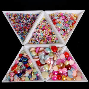 Nail-Art-Decoration Trays-Accessory Beads Crystal Rhinestones Plastic White Sorting 10pcs