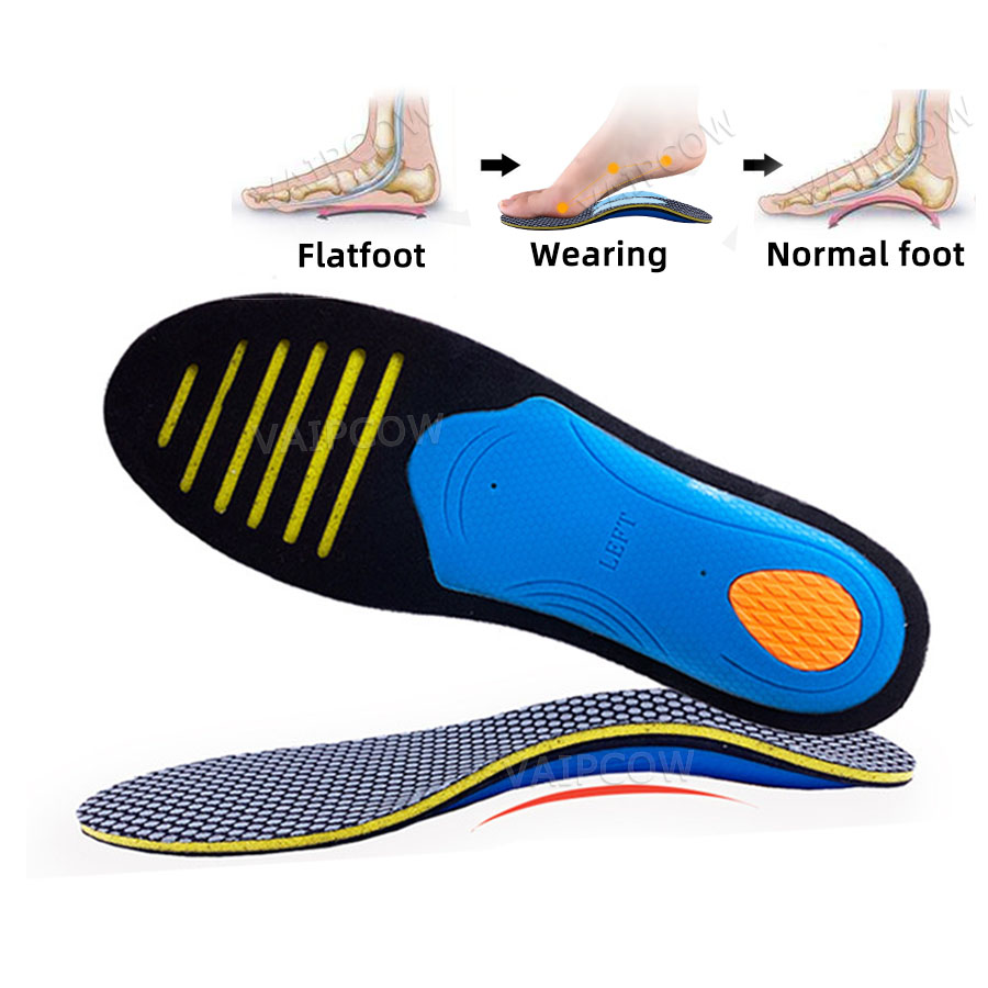 EVA Orthopedic Insoles Orthotics Flat Foot Health Sole Pad For Shoes Insert Arch Support Pad For Plantar Fasciitis Feet Care
