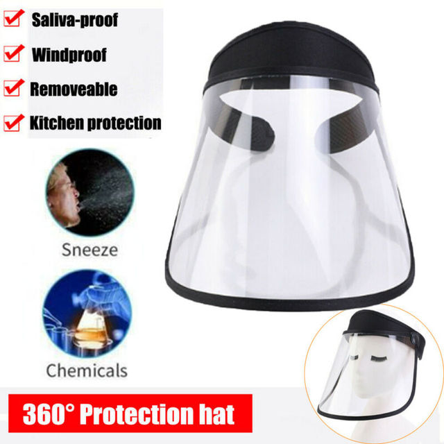Clear Protective Mask Cover Plastic Anti-fog Saliva Face Shields Mask 1