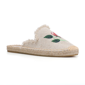 2019 Rushed New Arrival Hemp Summer Rubber Cotton Fabric Unicornio Slippers Tienda Soludos Espadrille Slippers For Flat Shoes  4