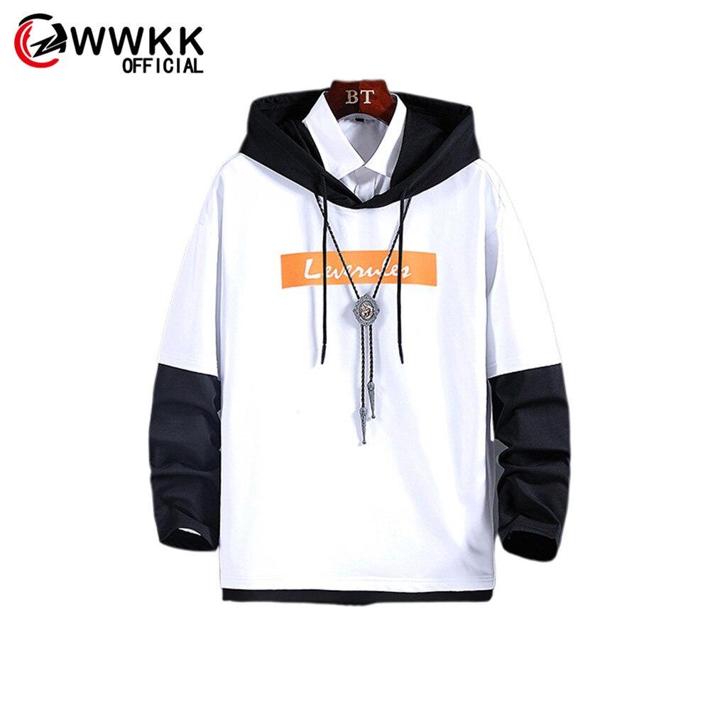 WWKK 2019 Удобная черная одежда модный мужской пуловер аниме Slim Fit Джемперы мужские Горячие повседневные с капюшоном Осень Зима Pull мужские