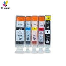 цена на Hisywan PGI5BK Ink cartridge For Canon PGI5 CLI8  iP4200 iP4300 iP4500 iP5200 MP500 MP530 MP600 MP610 printer For PGI-5BK CLI8BK