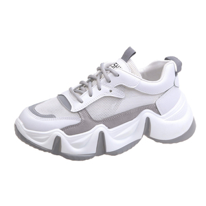 Image 5 - 2020 Platform Women Sneakers Fashion Ulzzang Woman Lace Up mesh Breathable Casual Shoes Female Chunky Vulcanized Shoes 6cm