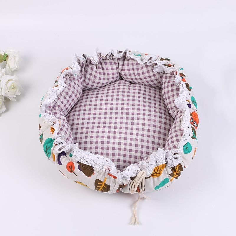 Pet Dog Nest flower Bud Nest Pumpkin Nest Small Dog Kennel Cat Nest Pet Mat Sleep Nest For Cat Teddy Chihuahua Bed 15