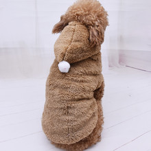 Thicken Funny Pet Dog Clothes Winter Warm Dog Pet Clothing Hoodies Two-legged Sweatshirt For Small Medium Large Dogs Cute Puppy