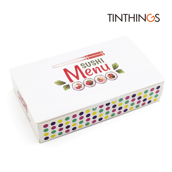 100PCS Sushi Box Packaging Fast Food Disposable Sushi Box Japan Rice Ball Paper Takeout Box Food Containers 170x105x35mm