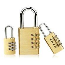 Cadeado novo para o quarto mala viagem mini ferramenta de segurança 4 dígitos número pure cooper latão combinação bloqueio senha