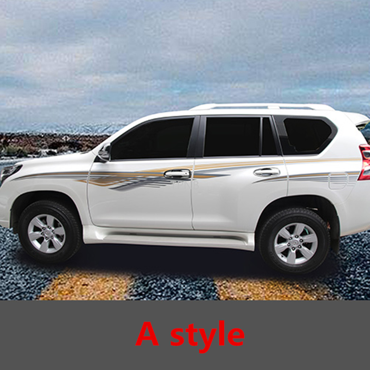 Body Sticker Pull for <font><b>Toyota</b></font> Land Cruiser <font><b>Prado</b></font> 150 2010 2011 2012 2013 2014 2015 2016 2017 2018 <font><b>2019</b></font> <font><b>Accessories</b></font> image
