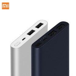 Banco Do Poder 10000mAh Xiao mi mi 2i 18W Carga Rápida Banco de Bateria Externa Powerbank 10000 PLM09ZM com Dual saída USB para o Telefone