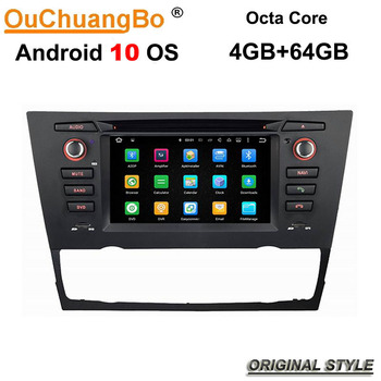 Ouchuangbo 4G Car Autoradio Head Unit GPS DVD Android 10 for BMW E90 E91 E92 E93 With WIFI Mirror Link 4GB 64GB 8 Core image
