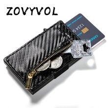 Zovyvol 2021 nova chegada titular do cartão de crédito negócios couro do plutônio caixa única carteira cartão caso rfid bloqueio bolsas