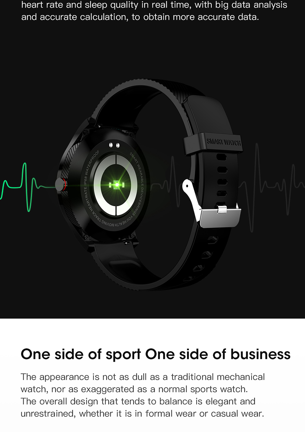 H9c36c71bbcee4cdb8d45853d3afc5bd24 696 L9 Full touch Smart Watch Men ECG+PPG Heart Rate Blood Pressure oxygen Monitor IP68 Waterproof Bluetooth Smart Bracelet