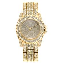2019 Top Fashion Rose Gold Diamond Luxury Beautiful Women Watches Ladies Relogio Mature Watch Reloj Hombre Quartz Female