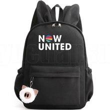 Agora unidos mochilas para a escola adolescentes meninas engraçado casual mochila de escola fazer agora united bookbag hip hop volta pacote moda