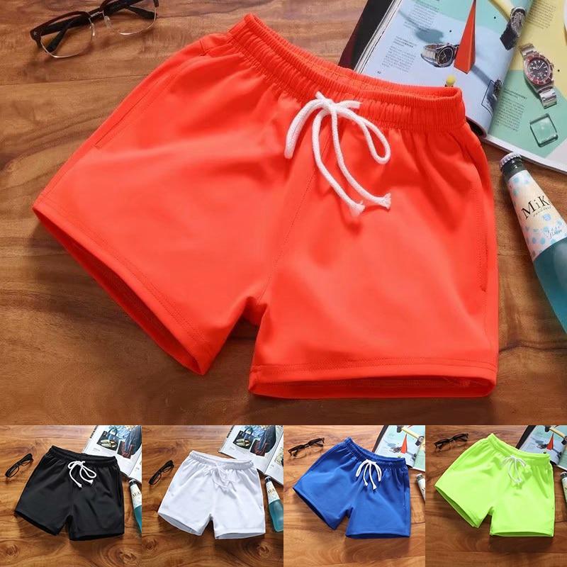 2020 New Summer Men's Shorts Casual Jogging Solid Color Run Sweatpants Shorts Fashion Streetwear Hip Hop High Waist Short Men