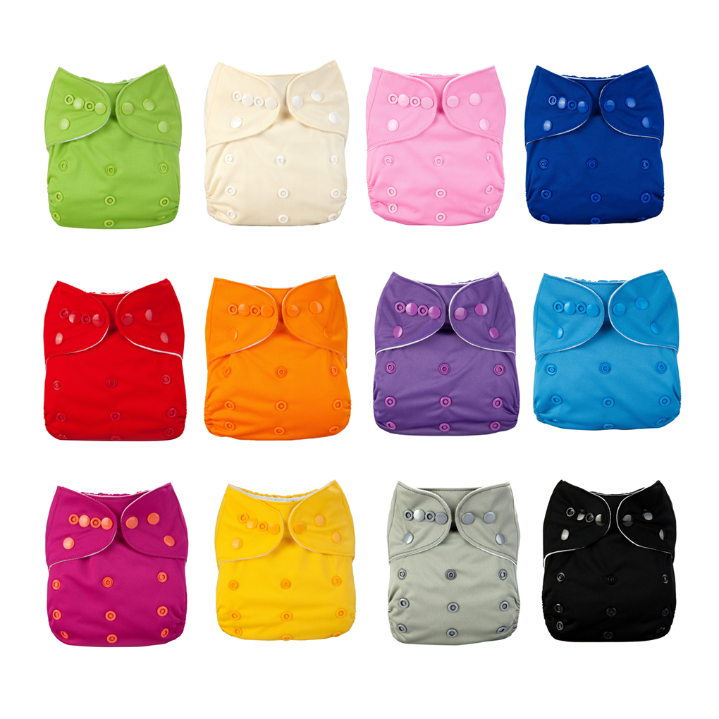 12 Colors Solid Color Washable Reusable Nappies Breathable TPU Waterproof Diaper Baby Leakage Proof Pants New