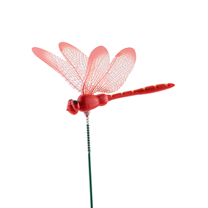 Image 4 - 10 шт./лот искусственные стрекозы бабочки украшение для сада на открытом воздухе 3D моделирование стрекозы колья двора растения лужайка Декор палка