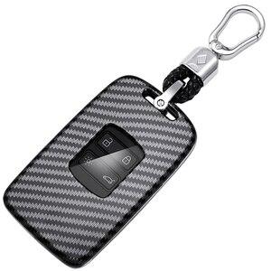 Image 4 - Apktnka 4 Button Carbon Fiber Car Remote Control Key Shell Cover Case Fob For Renault Kadjar Megane Clio 2016 2017 2020 2021