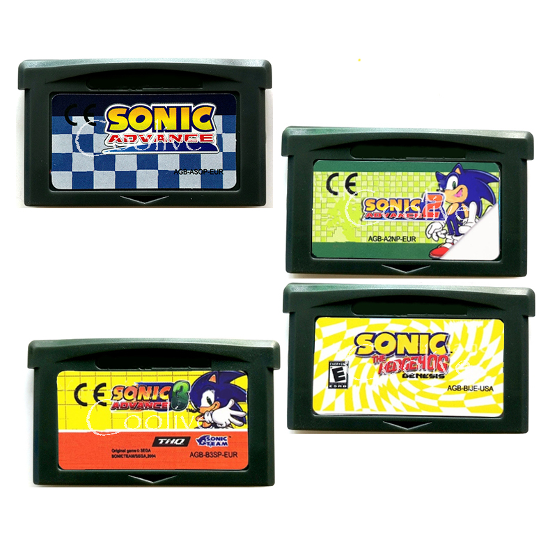 Sonic Series The Hedgehog for 32 Bit Video Game Cartridge Console Card Handheld Player English Language image