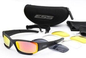 Image 5 - Gafas de sol polarizadas para hombre, unisex lentes de sol con protección UV400, lentes tácticos de estilo militar, a prueba de balas