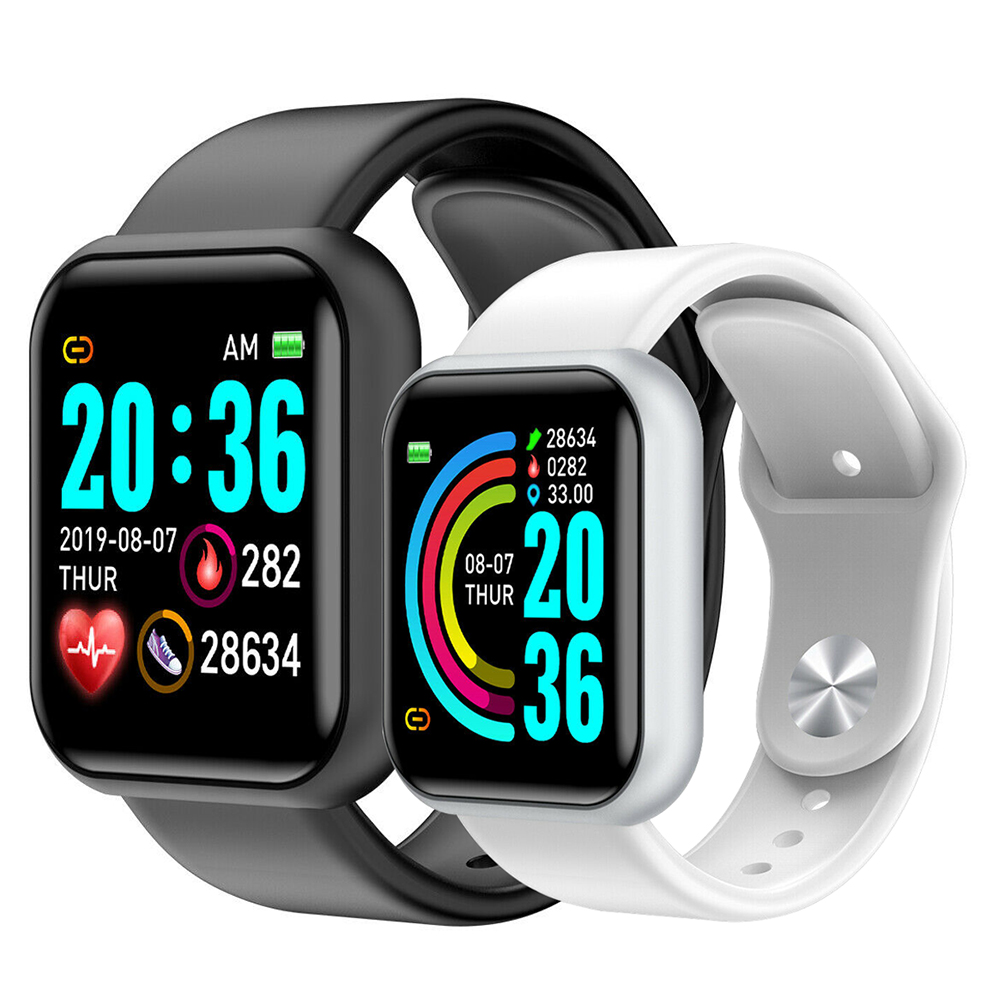 D20 Smart Watch Fashion Sports Smartwatch Fitness Heart Rate Tracker 1.3inch HD Color Touch Screen Clock For Apple IOS Android