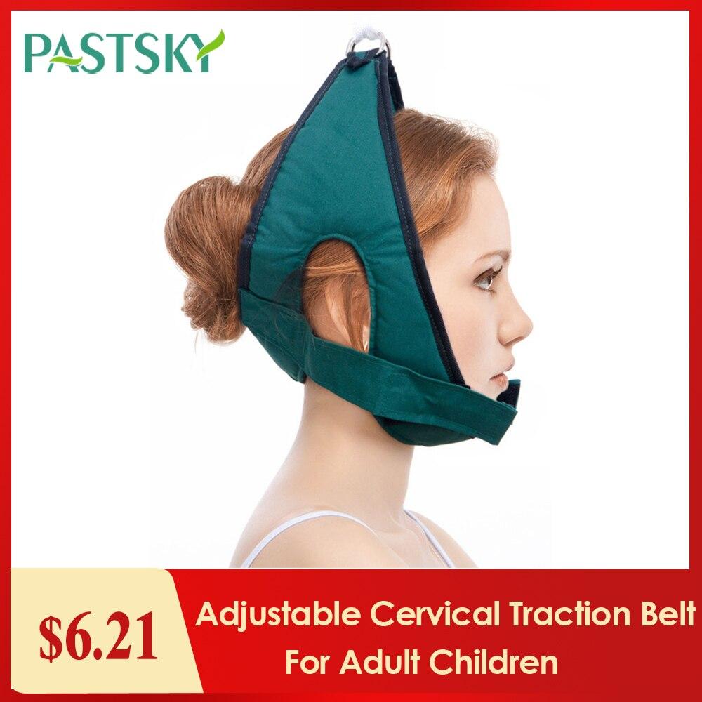 Adjustable Cervical Traction Belt Breathable Sling Tractor Neck Stretch Fixing Straps for Adult Children Home Medical Equipment()